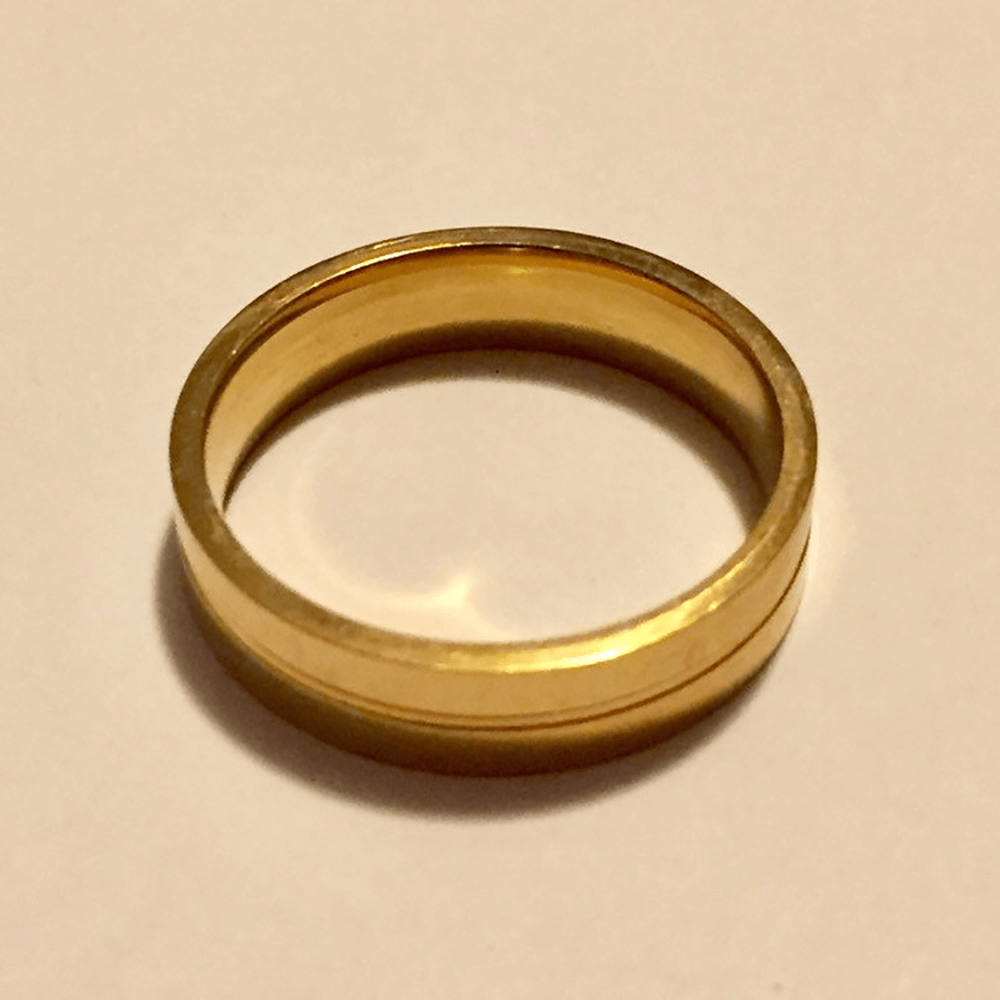 Wedding Plating Gold Ring