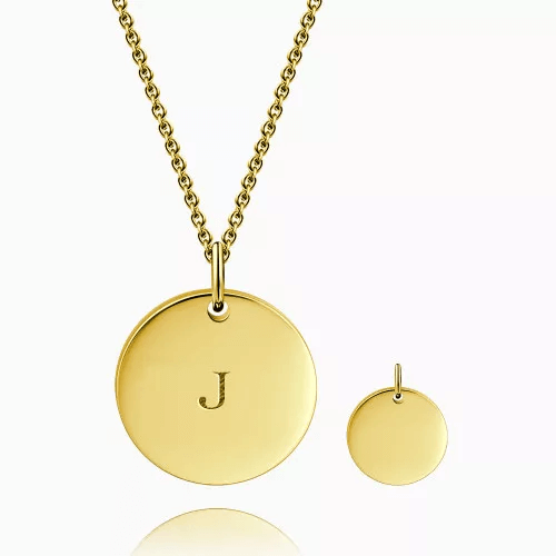 This is gold color pendant.