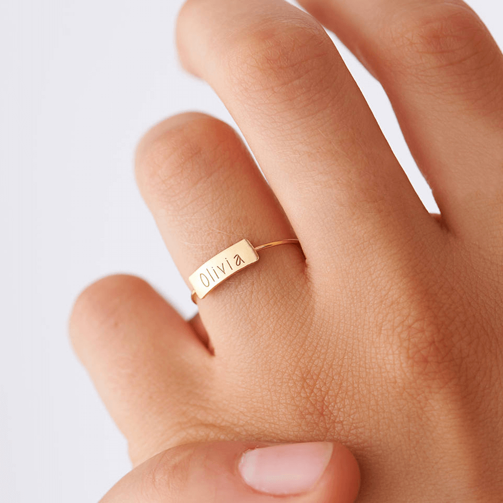 Children Names Bar Ring