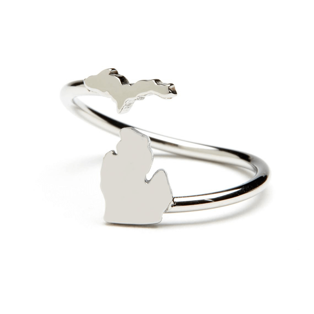 stainless steel map ring