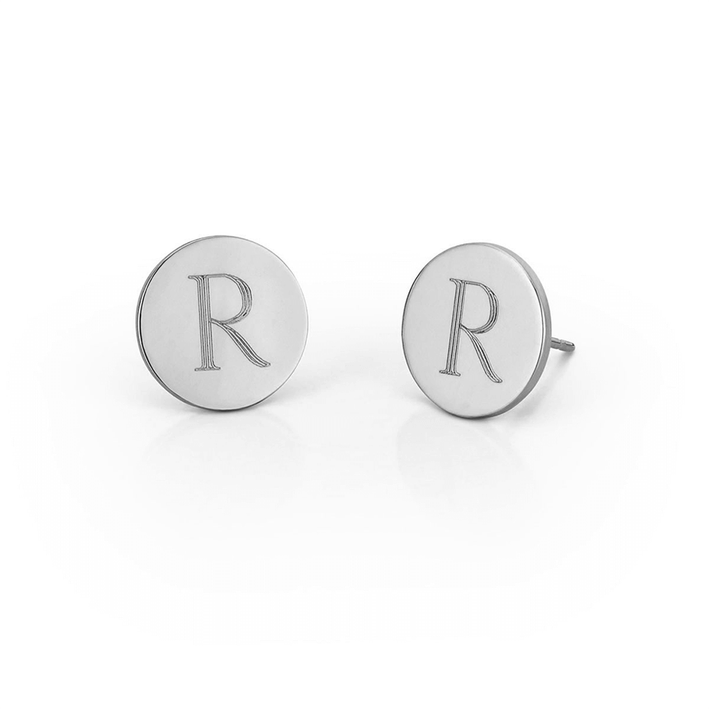 letter earrings stud