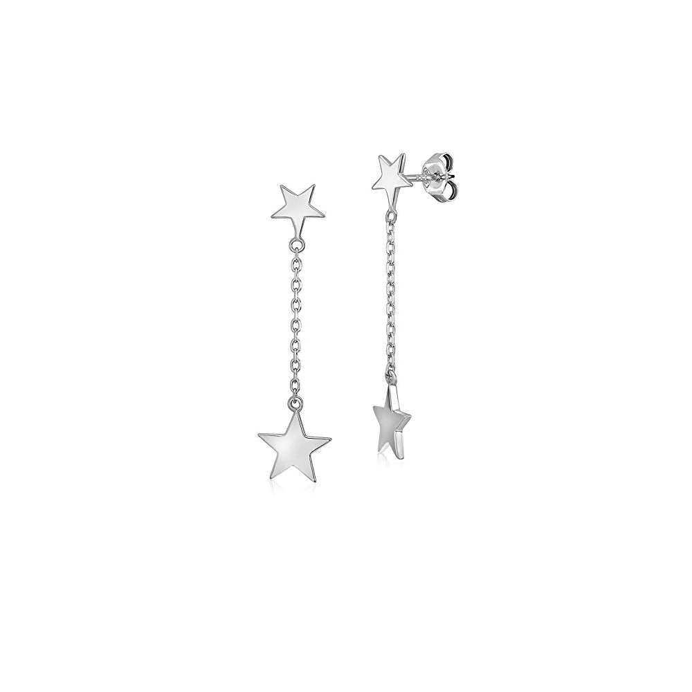 doule star dangle earring