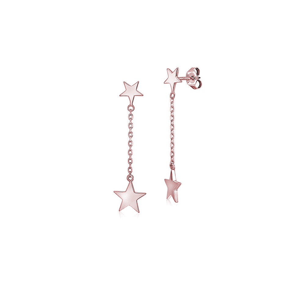 two star earrings