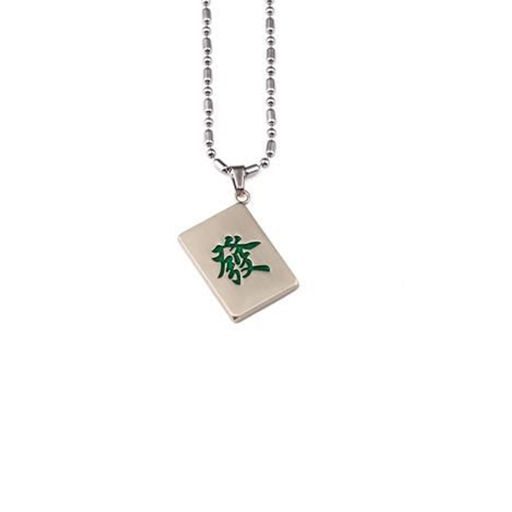 mahjong pendant necklace