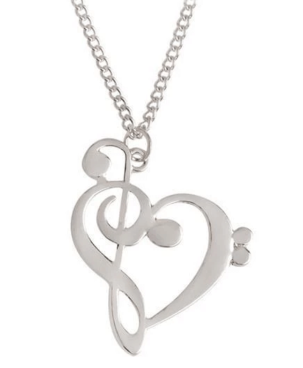 A heart shaped by the lines of musical note.