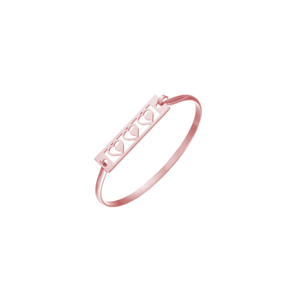 This is three heart hollow shape bar bangle.