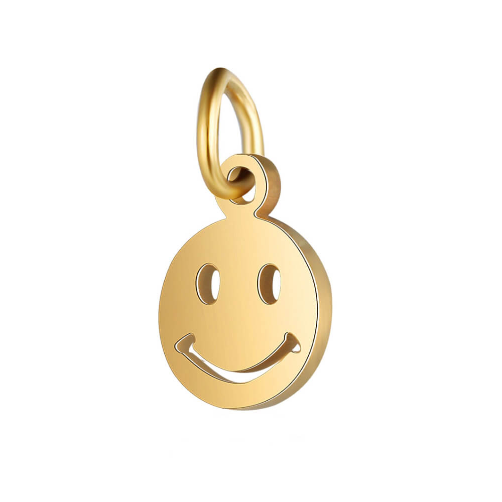 This is gold color smile expression pendant.
