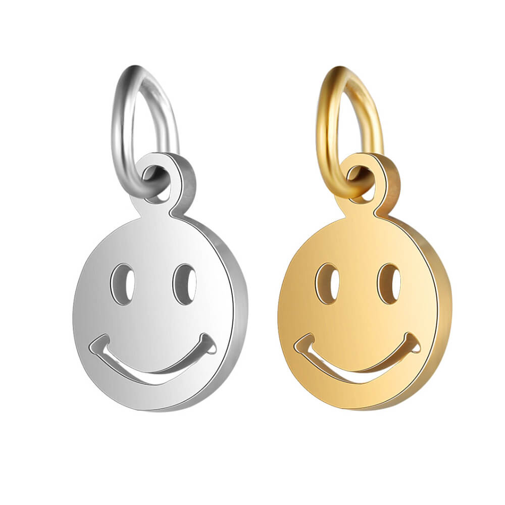 There are two color smile shape pendants.