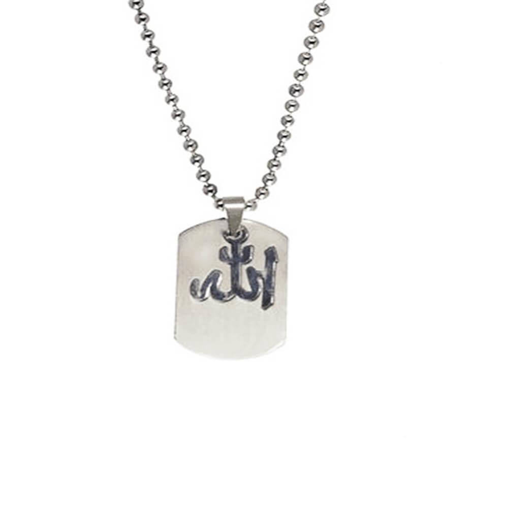 Stainless Steel Square silver Necklace with chain