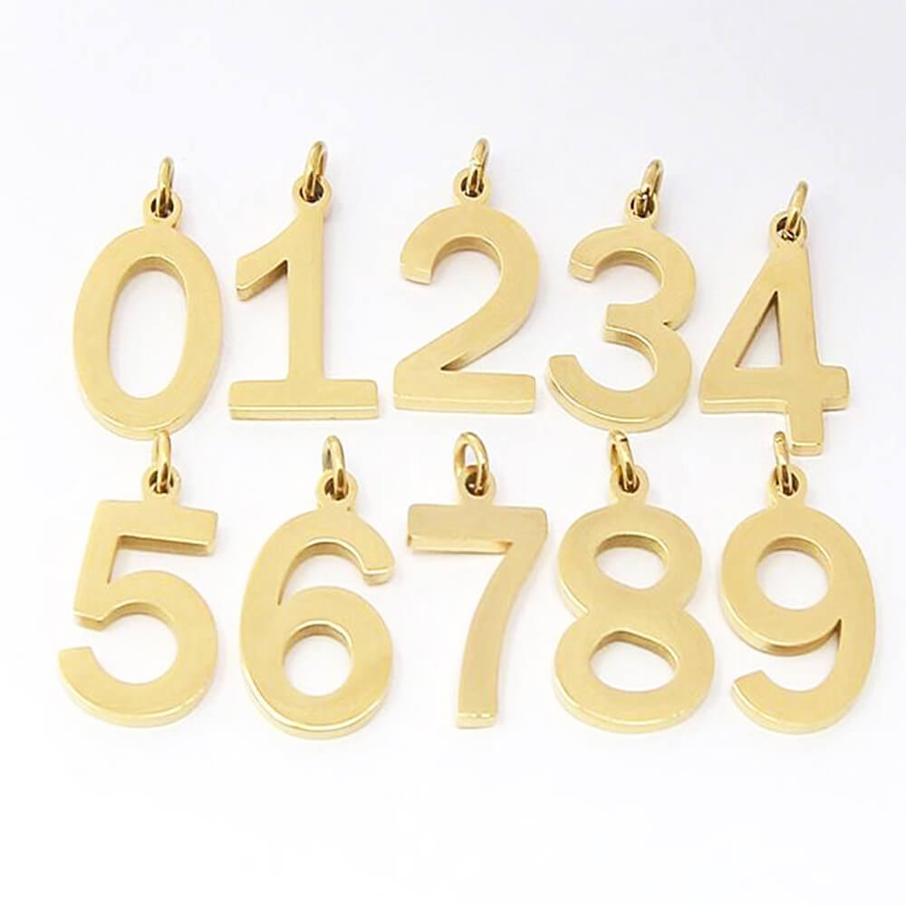This is 0-9 number pendant with chain