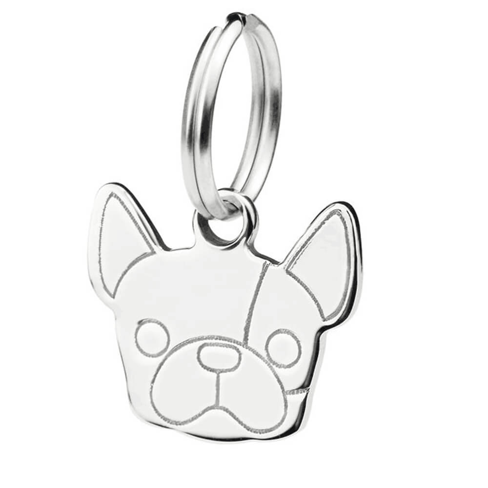 This is a pet dog silver pendant