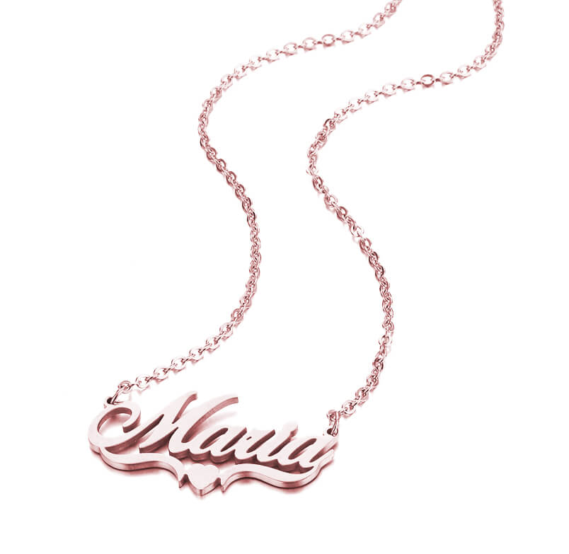 This is costomized name necklace.
