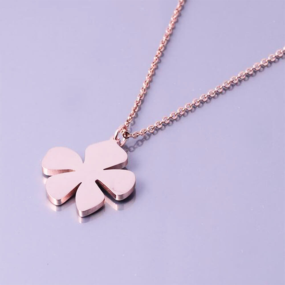 This is a flower pendant necklace