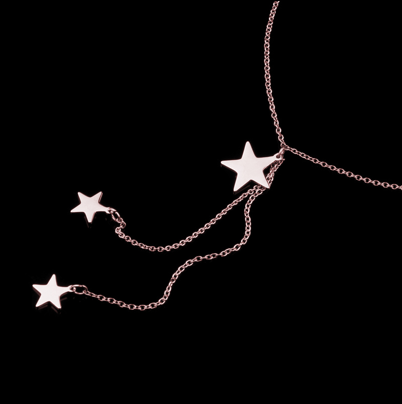 This is three stars chian necklace.