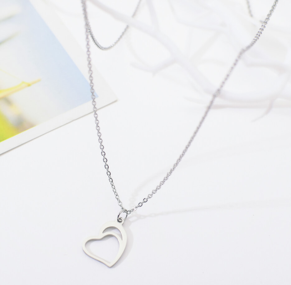 This is steel heart shape necklace.