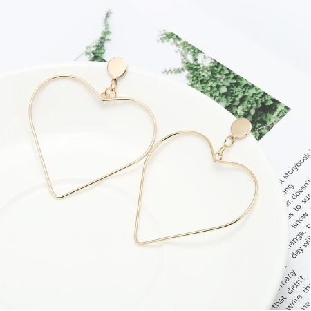This is a pair of big love earrings.