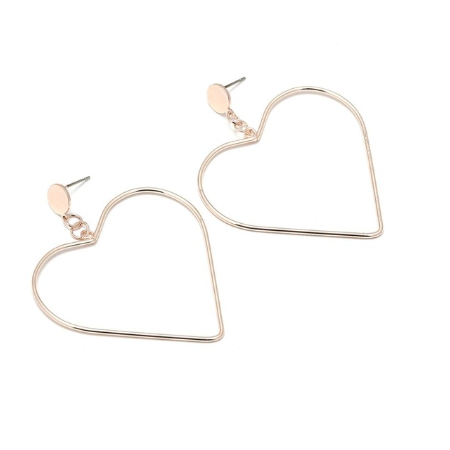 This is a pair of gold big love earrings.