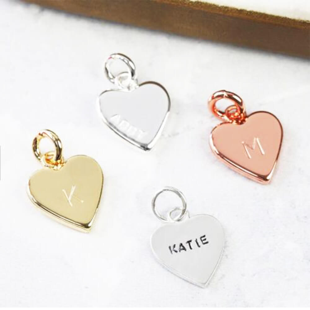 Three colors of heart pendants