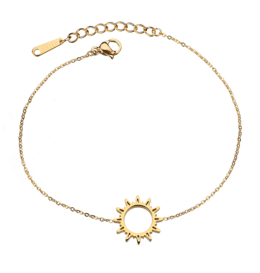 This is Hollow sun pattern bracelet.