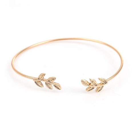 This is a gold leaf Open Cuff Bangles.