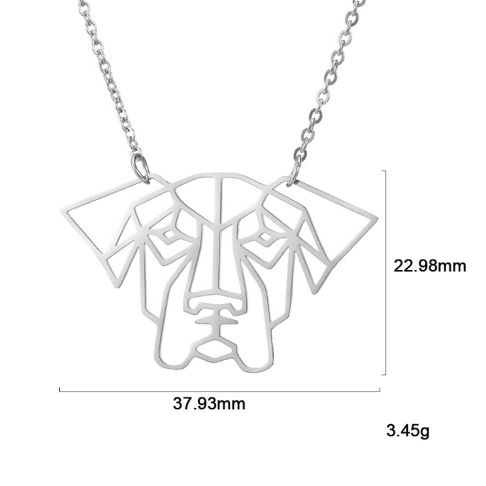 The size of silver color pet dog necklace