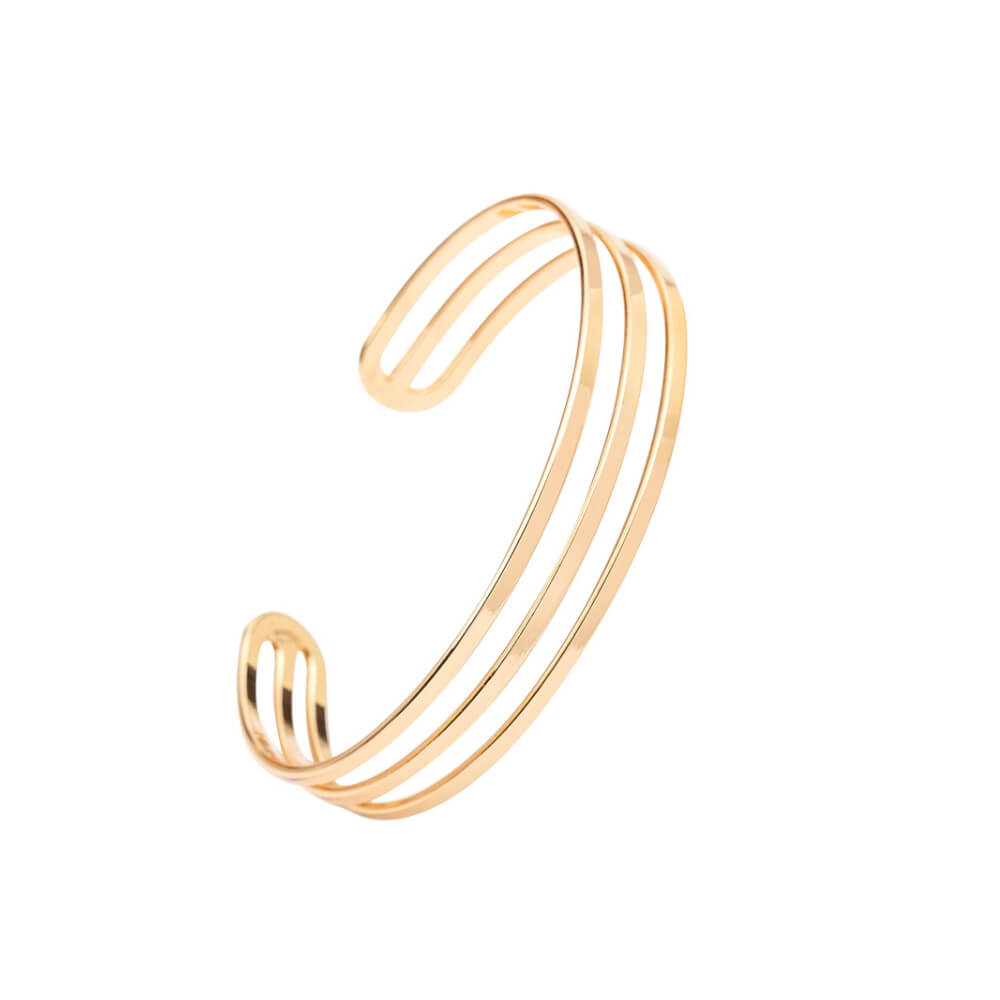 This is three lines open bangle.