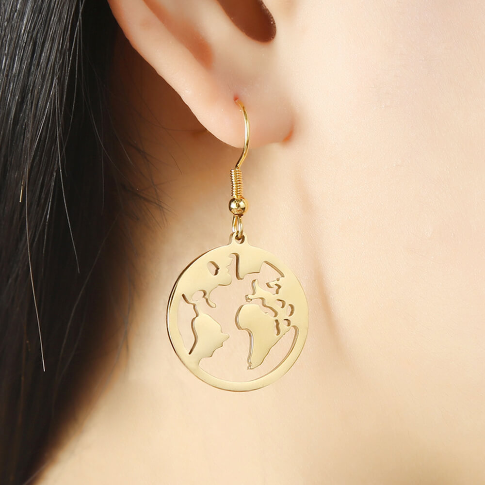 This is a pair of map earrings.