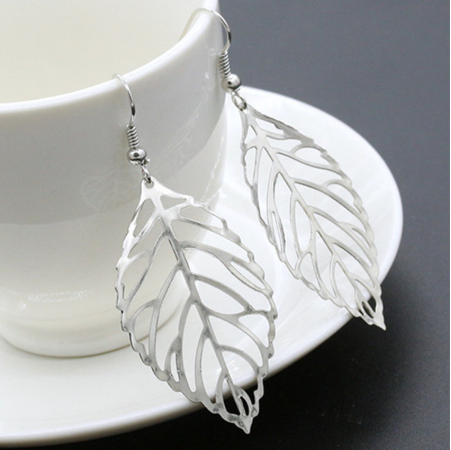 This is a pair of leaf earrings.