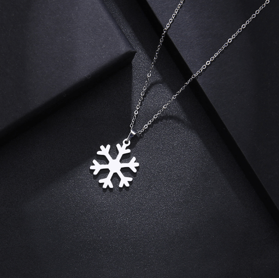 This is Ice snow pendant necklace.