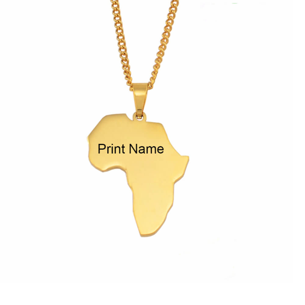 Custom gold color african necklace