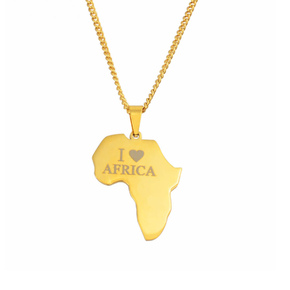 Gold color Custom letter African Necklace
