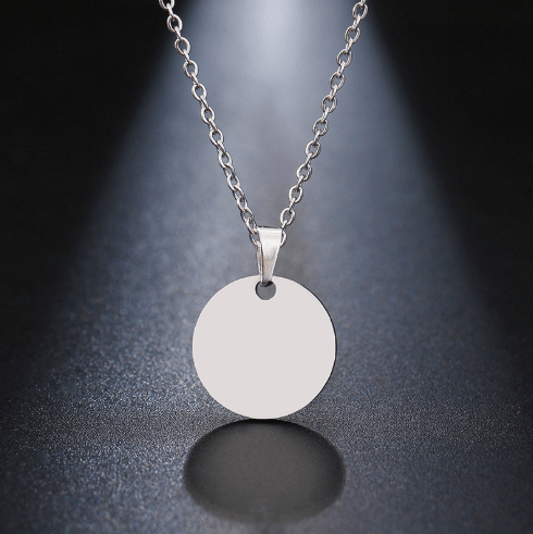 It is simple circle pendant.
