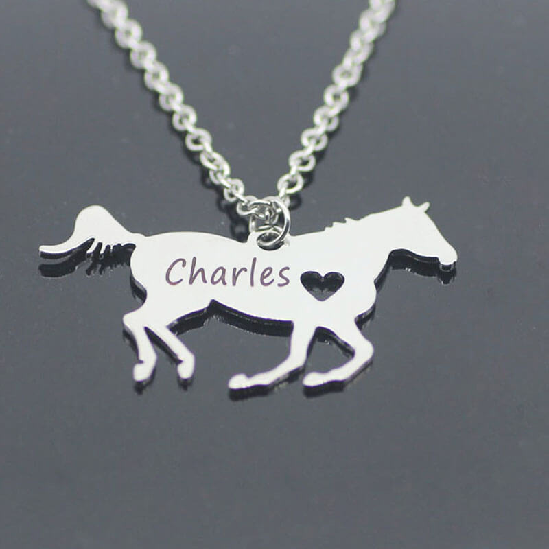 This is horse shaped pendant necklace.