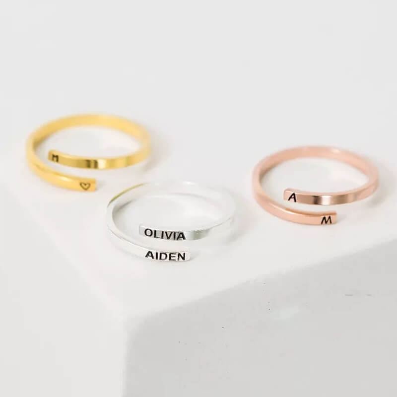 They are customized open rings.