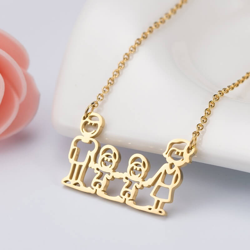 This is family members necklace.