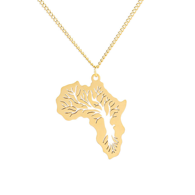 This is Africa map pendant necklace.