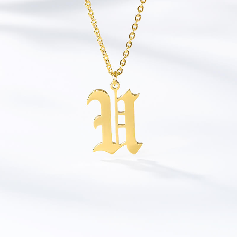 This is old English letter necklace.