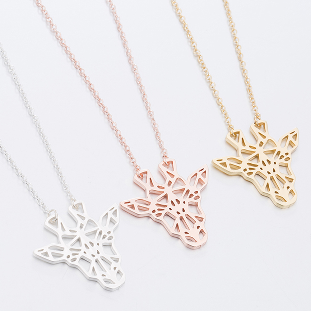 They are giraffe shaped necklaces.