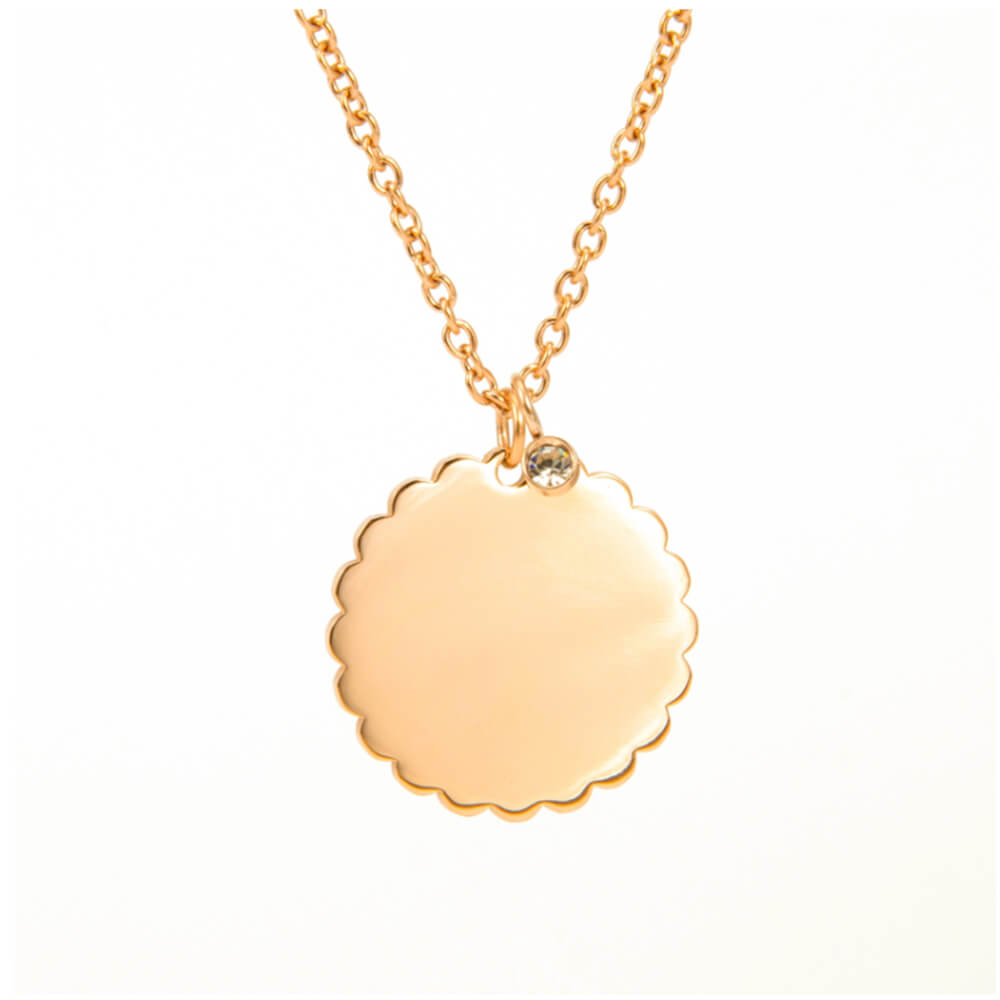 This is gold color circle pendant neckalce