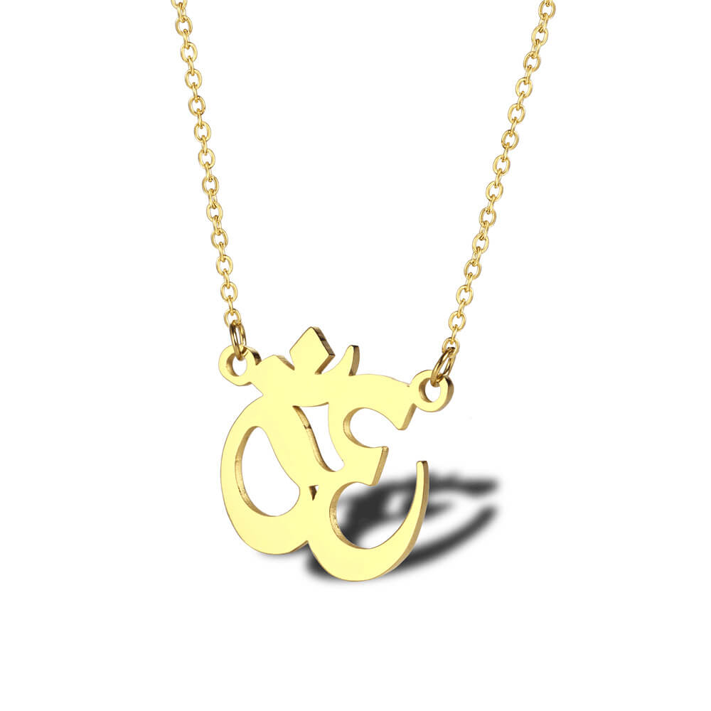 Gold Color Yoga Necklace