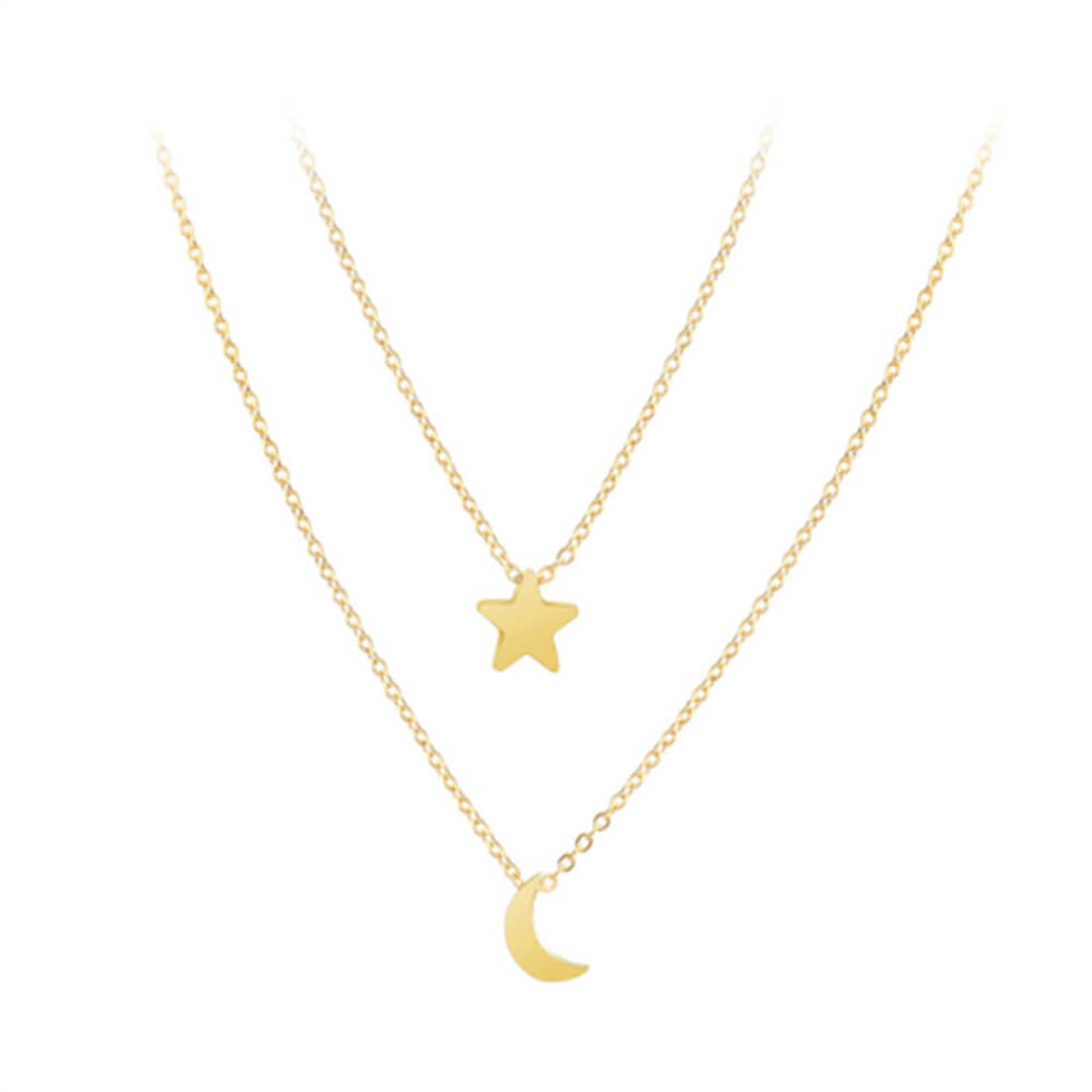 This is moon and star necklace.