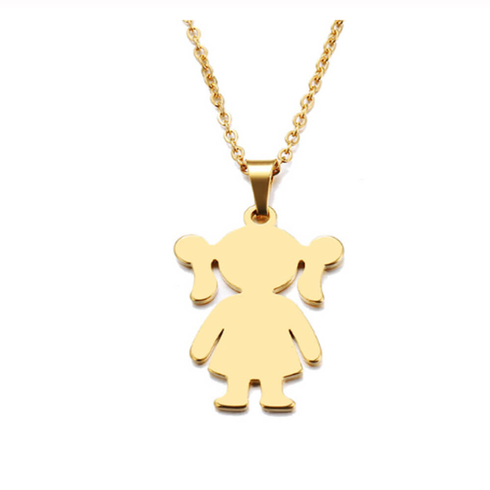 This is cute girl necklace.