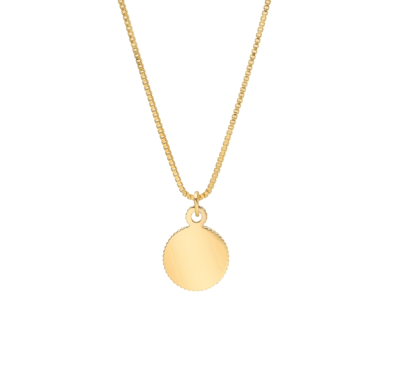 Gold Color Coin Disc Necklace