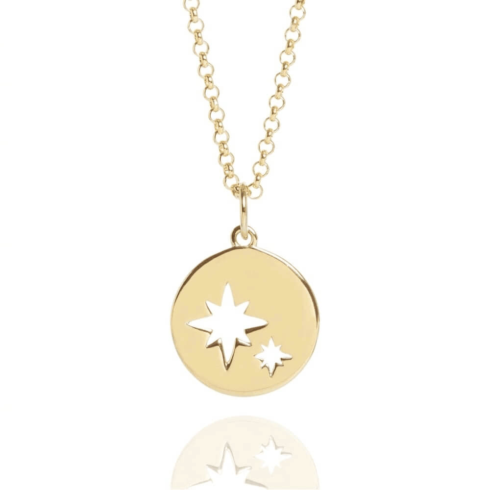 Gold Color Disc Coin Necklace