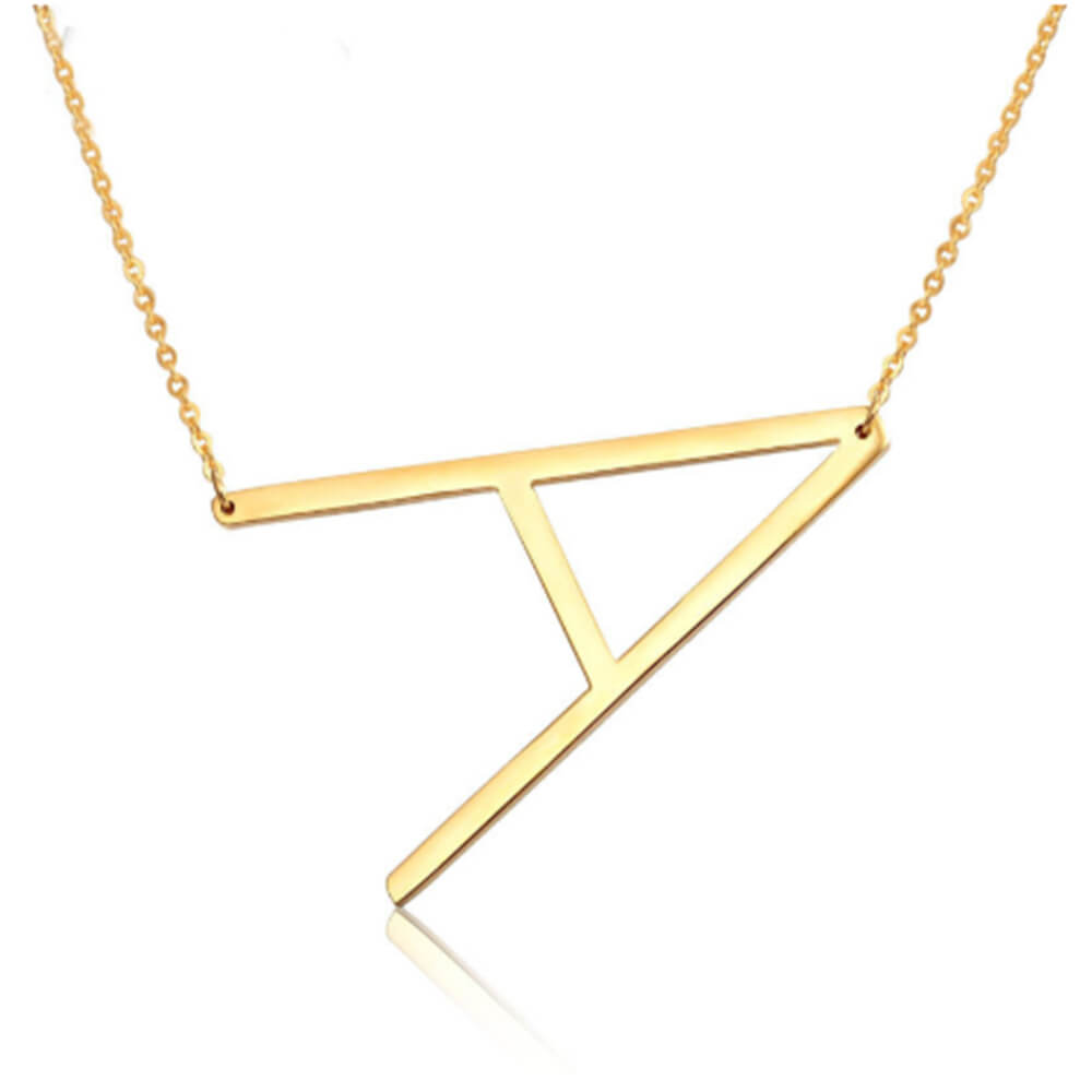 This is a letter A necklace.