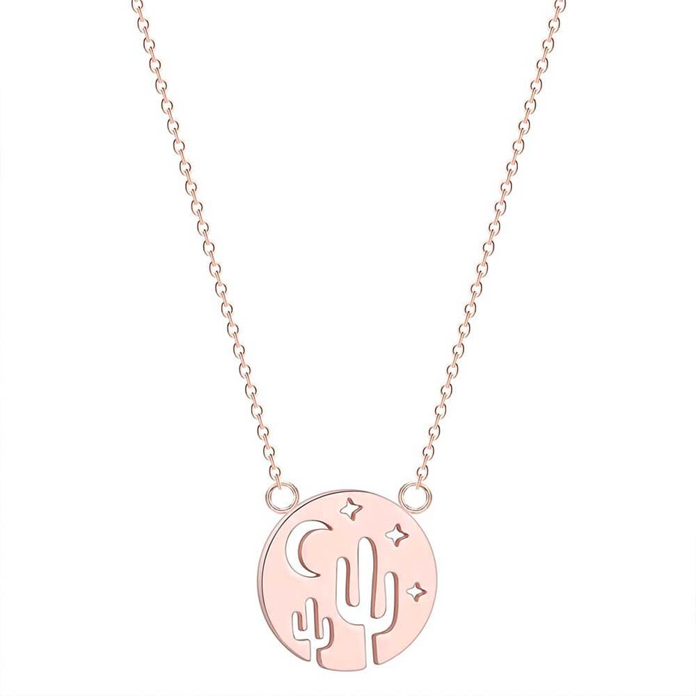 This is rose gold color necklace.
