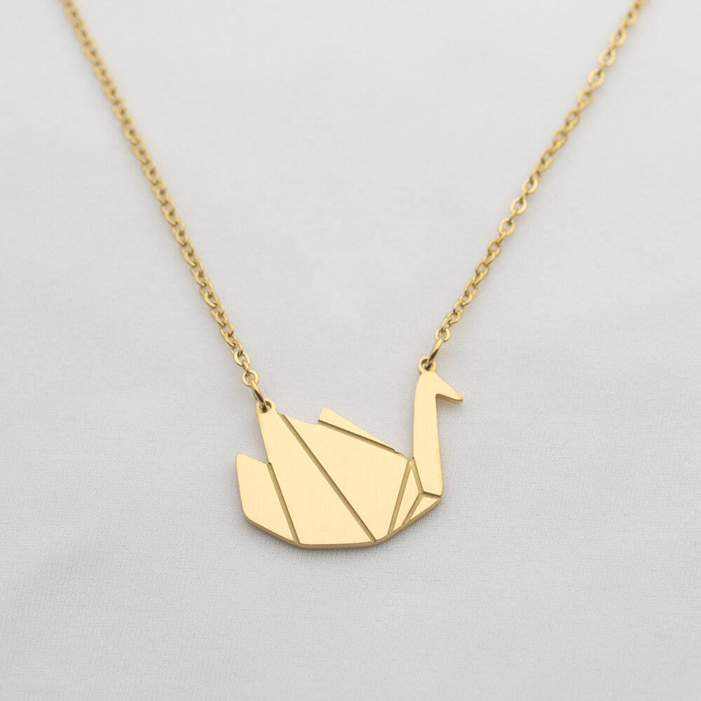This is crane pendant necklace.