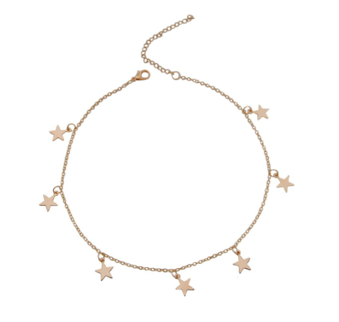This is a gold star necklace.