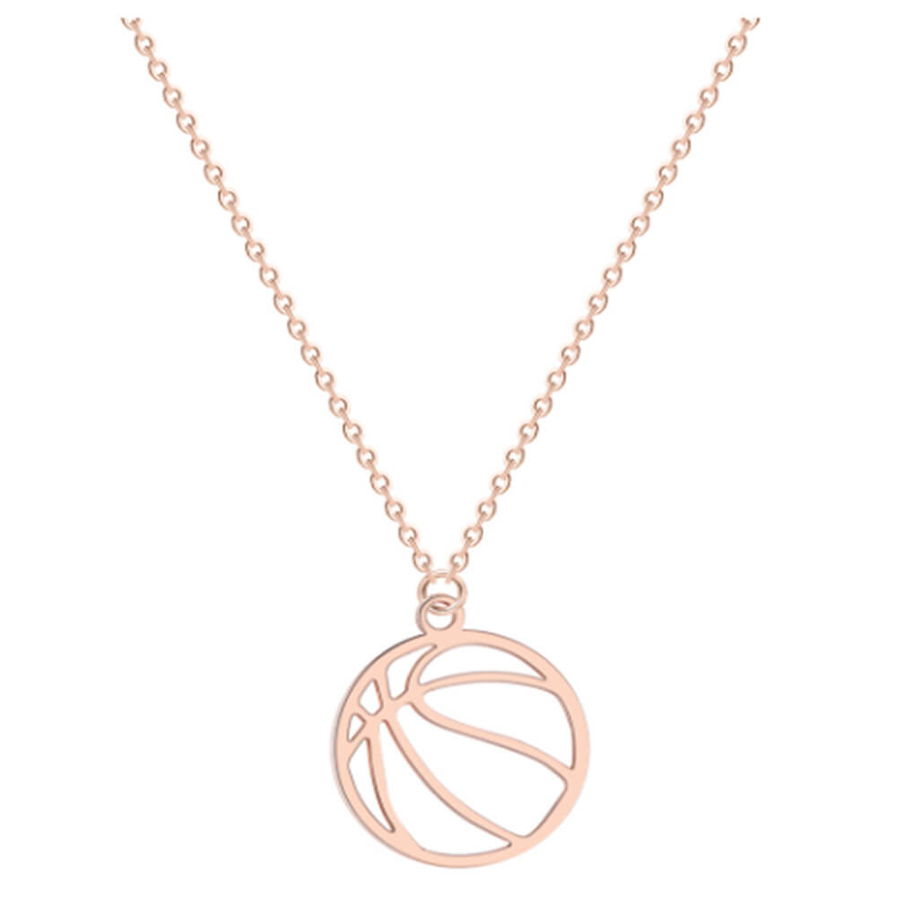 This is basketball necklace.