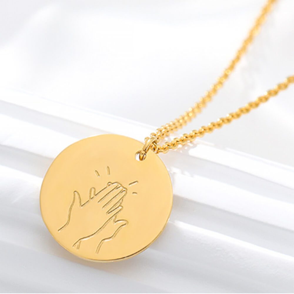 This is a gesture necklace.